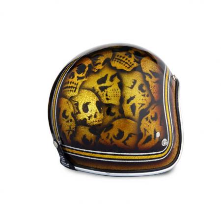 70s Helm Superflake - Skulls mit ECE