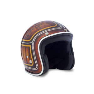 70s Helmet Superflake - Copper Flowers with ECE