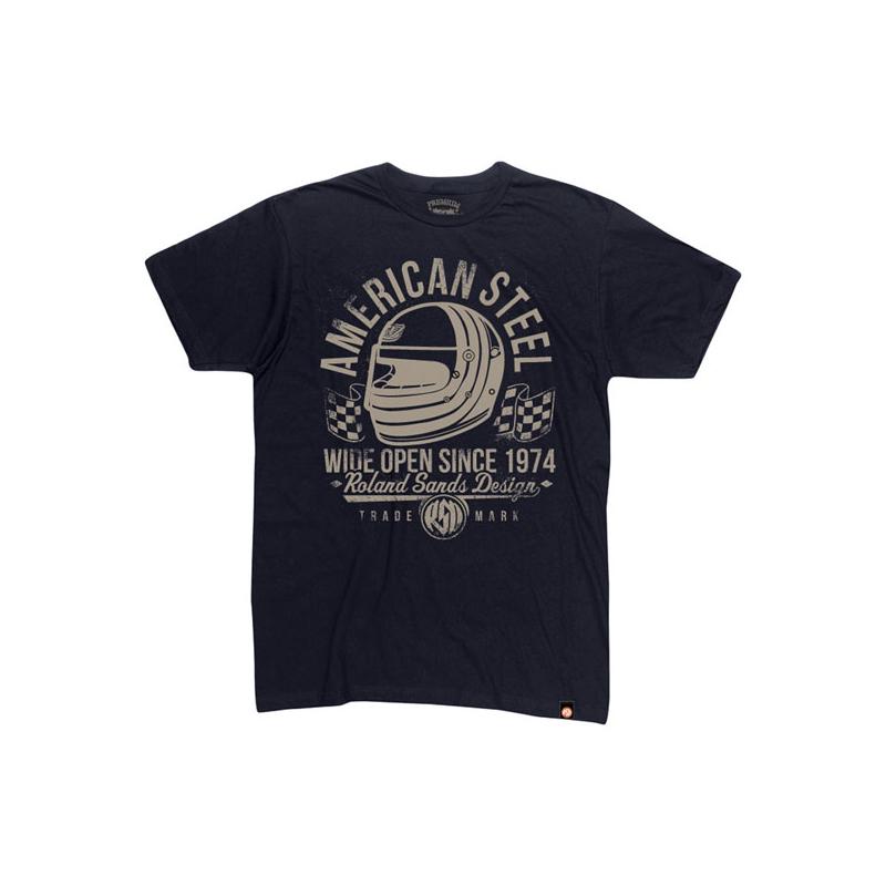 Roland Sands Design T-Shirt -American Steel Schwarz