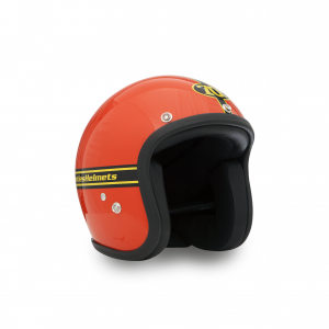 70s Helmet Pastello - Orange with ECE