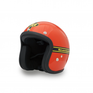 70s Helm Pastello - Orange mit ECE