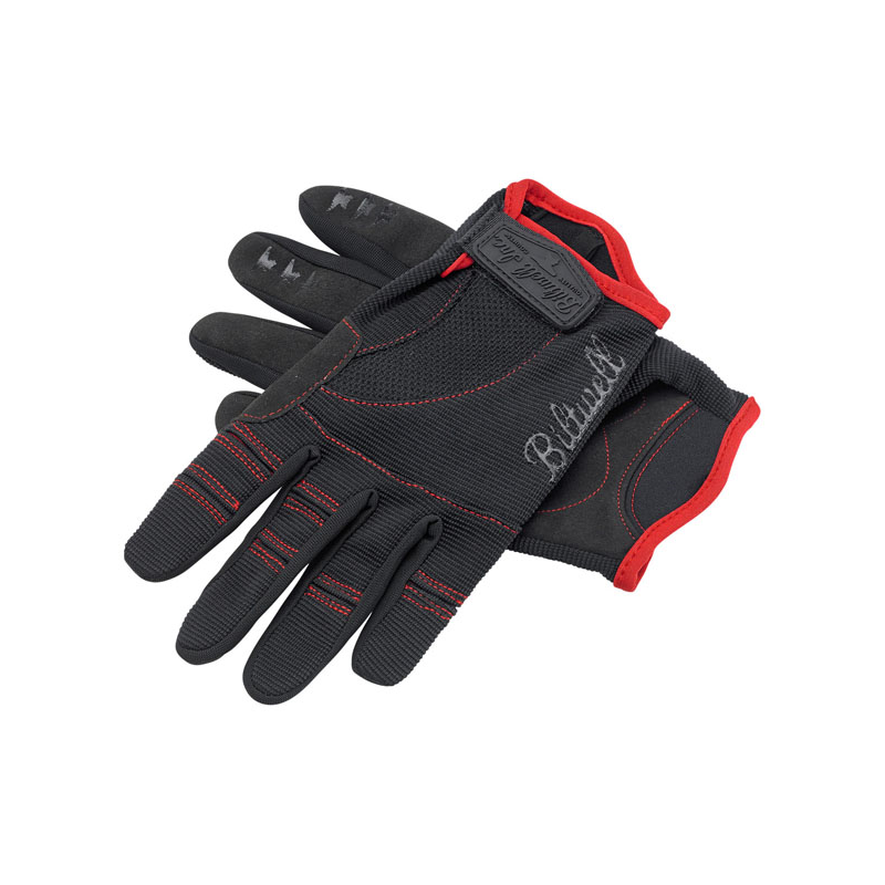 Biltwell Gloves - Moto Black/Red