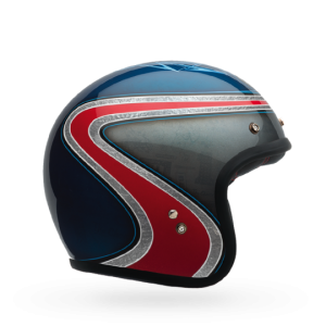 Bell Helm Custom 500 - Airtrix Heritage Blau/Rot - Special Edition