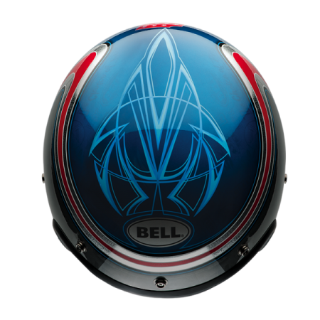 Bell Helm Custom 500 Special Edition - Airtrix Heritage Blau/Rot