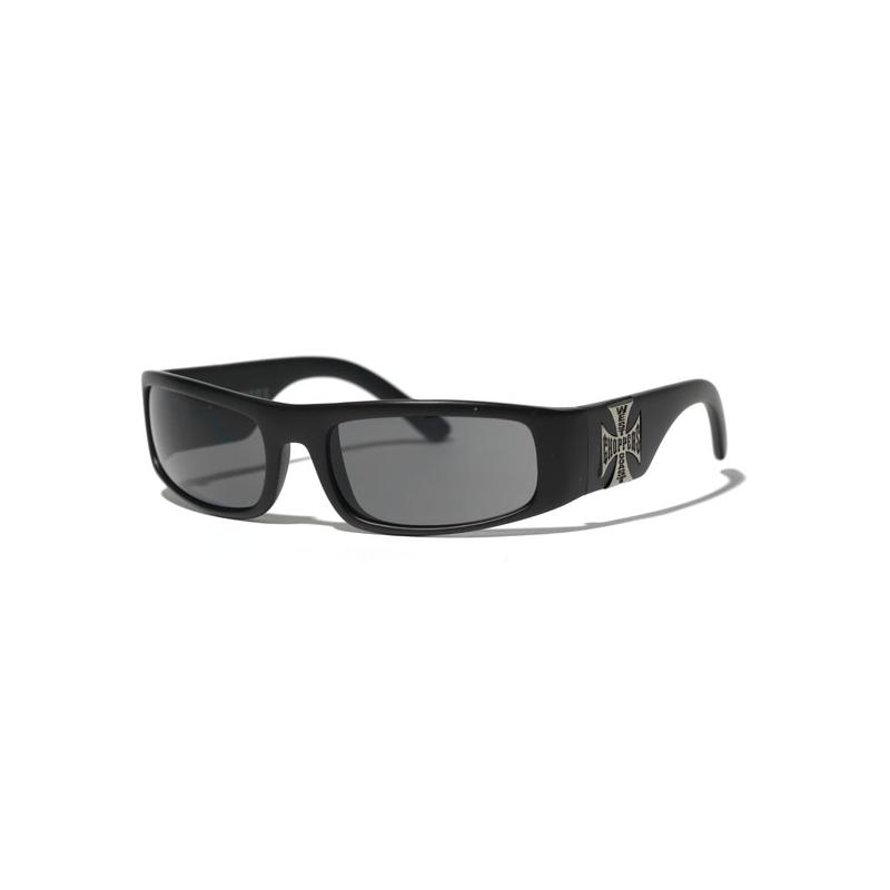 West Coast Choppers Glasses - Original Cross Black