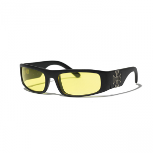 West Coast Choppers Glasses - Original Cross Yellow