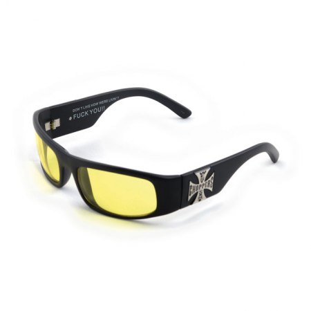 West Coast Choppers Brille - Original Cross Gelb