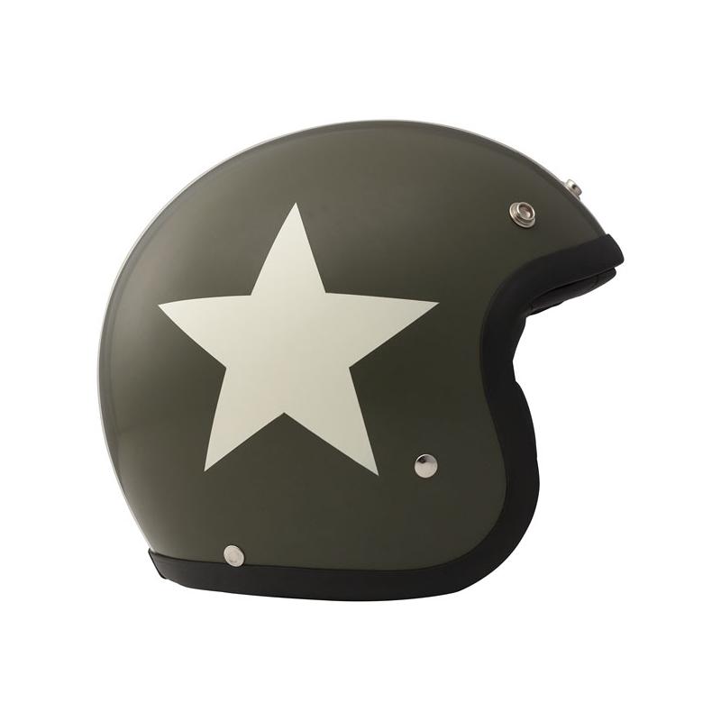 DMD Helmet Vintage - Star with ECE Green