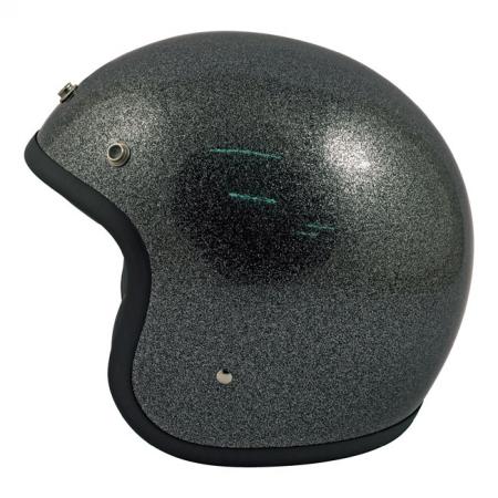 DMD Helm Vintage - Glitter mit ECE Schwarz