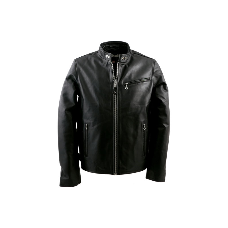 schott nyc lederjacke cafe racer biker schwarz. Black Bedroom Furniture Sets. Home Design Ideas
