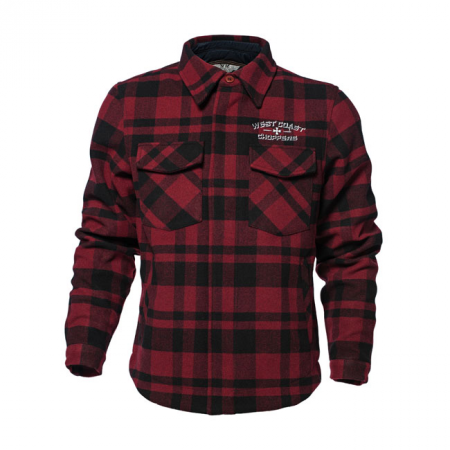 West Coast Choppers Jacke - Califa Gang Rot/Schwarz