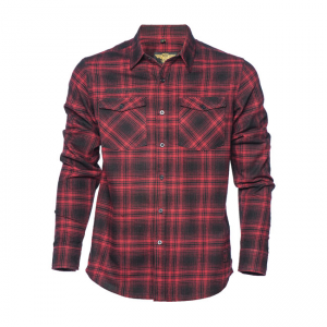 West Coast Choppers Workshirt - El Diablo Flannel Red