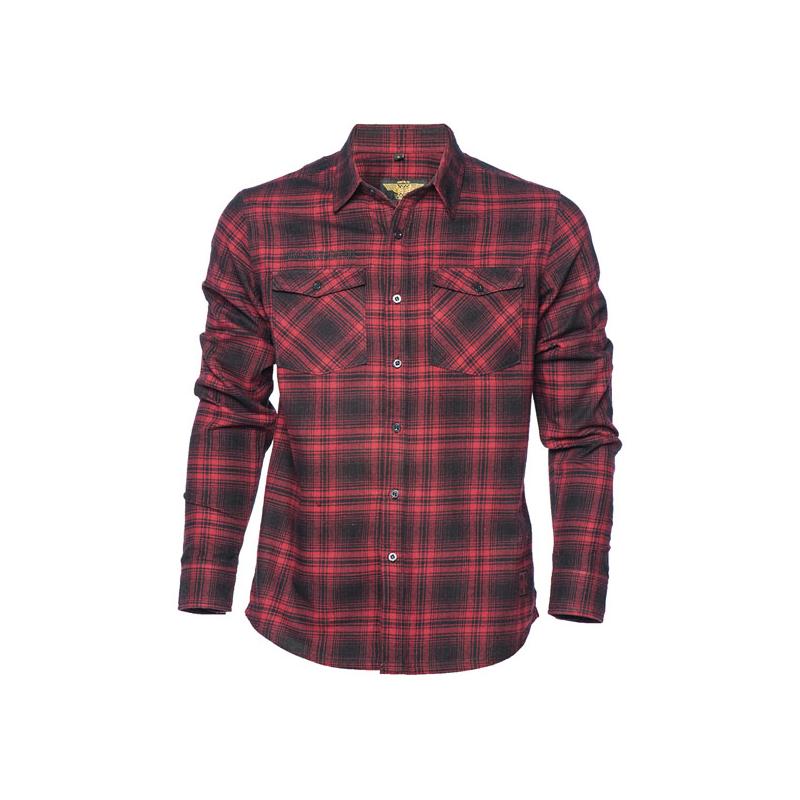 West Coast Choppers Workshirt - El Diablo Flannel Rot