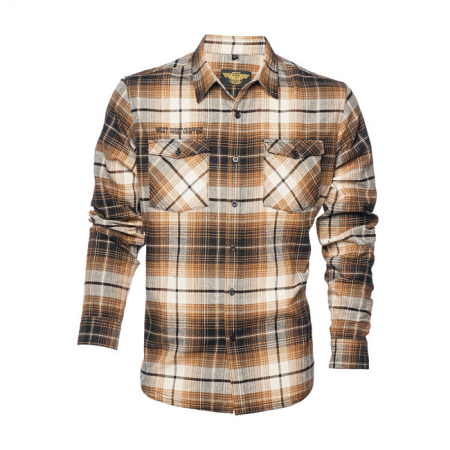 West Coast Choppers Workshirt - El Diablo Flannel Braun