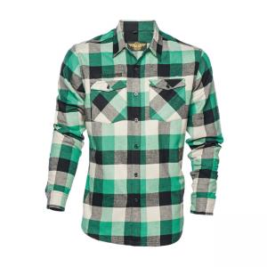 West Coast Choppers Workshirt - El Diablo Flannel Green