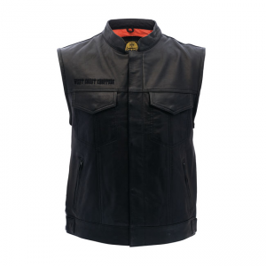 West Coast Choppers Vest - Maltese Cross Black