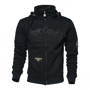West Coast Choppers Zip Hoodie - Por Vida Schwarz