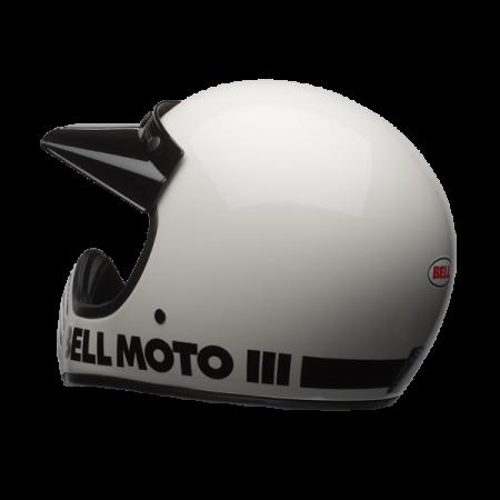 Bell Helm Moto-3 - Classic Weiss