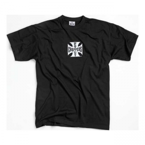 West Coast Choppers T-Shirt - Original Cross Schwarz Weiß