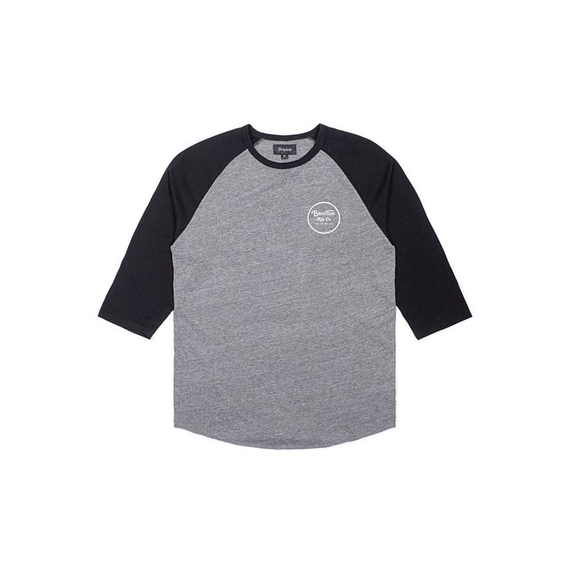 Brixton T-Shirt - Wheeler Schwarz/Grau