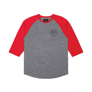 Brixton T-Shirt - Wheeler Red/Grey