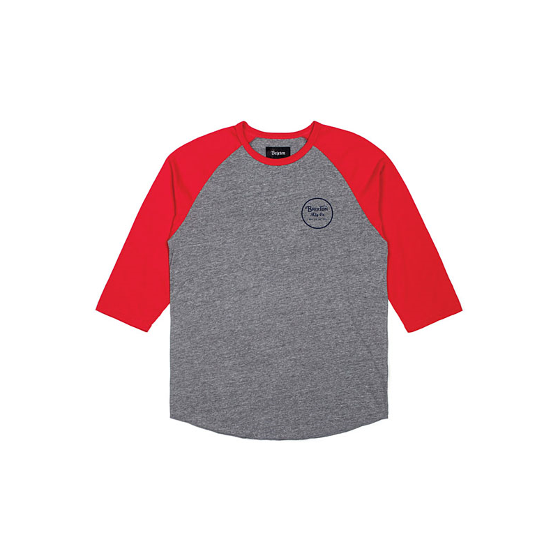 Brixton T-Shirt - Wheeler Rot/Grau