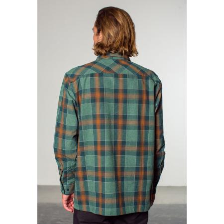 Brixton Shirt - Albert Grün/Rost