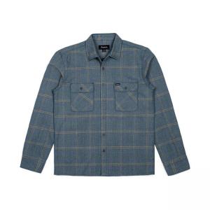 Brixton Shirt - Archie Grün/Grau