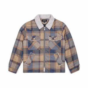 Brixton Jacket - Pedro Navy Plaid
