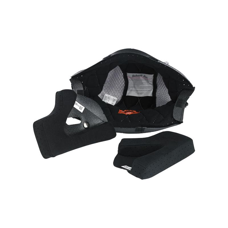 Biltwell Helmet Inner Liner - Gringo/Gringo S in Black/Silver