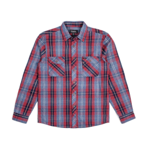 Brixton Shirt - Bowery Navy Plaid