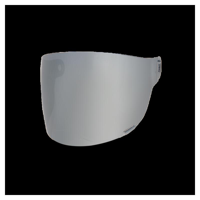 Bell Flat Visier - Bullitt Silver Iridium - schwarze Lasche