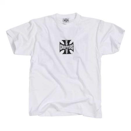 West Coast Choppers T-Shirt - Original Cross Weiß Schwarz