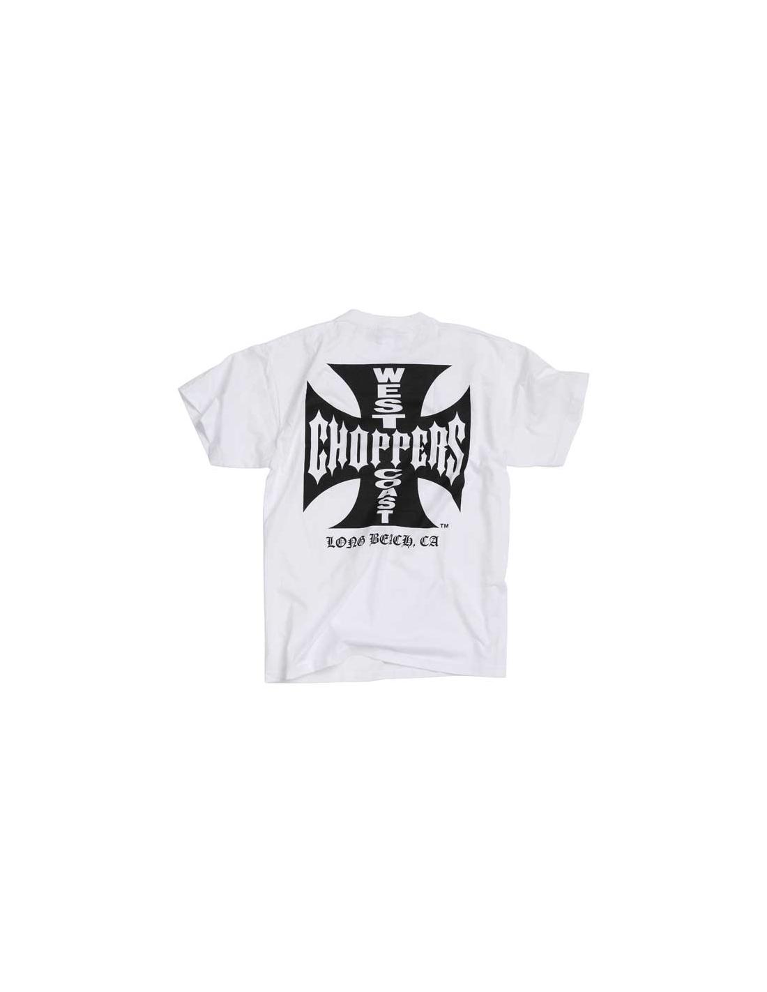 West Coast Choppers T-Shirt - Original Cross White Black