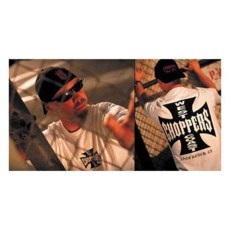 West Coast Choppers T-Shirt - Original Cross White Black