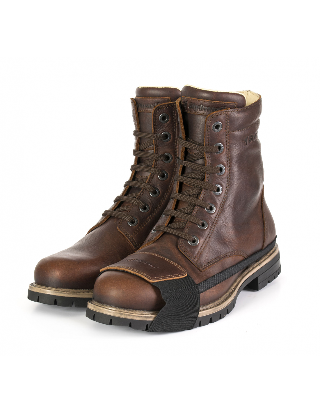 stylmartin boots - ace brown - cafe racer boots made in italy