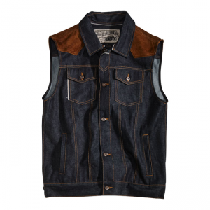 Rokker Vest - Mixed Denim