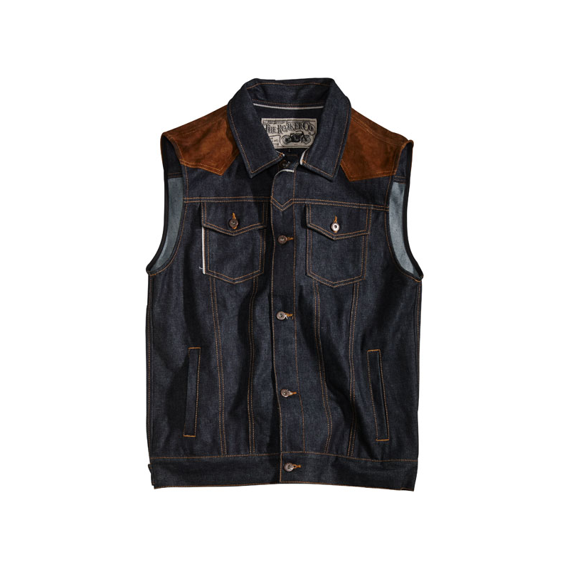 Rokker Weste - Mixed Denim