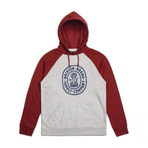 Brixton Hoodie - Pace red/grey