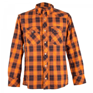 King Kerosin Shirt - Speedtex Rider Orange Schwarz