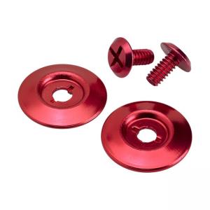 Biltwell Scharnierdeckel - Gringo S Hardware Kit Rot