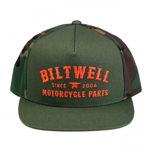 Biltwell Cap - Patrol Trucker Camo Orange