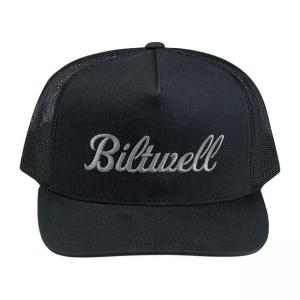 Biltwell Cap - Script 2 Trucker Black Grey