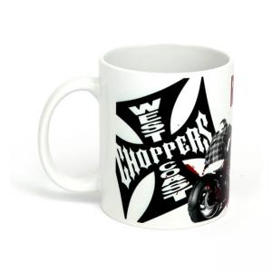 West Coast Choppers Mug - Ride Hard Sucker White