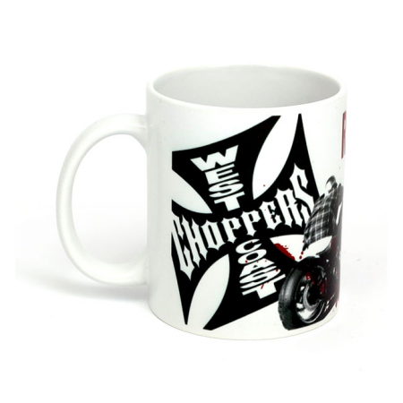 West Coast Choppers Becher - Ride Hard Sucker Weiss