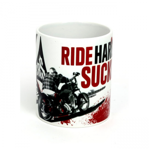 West Coast Choppers Mug - Ride Hard Sucker White