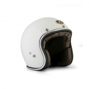 70s Helmet Metalflake - Glossy White with ECE