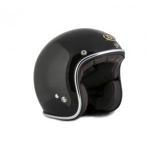 70s Helmet Metalflake - Glossy Black with ECE