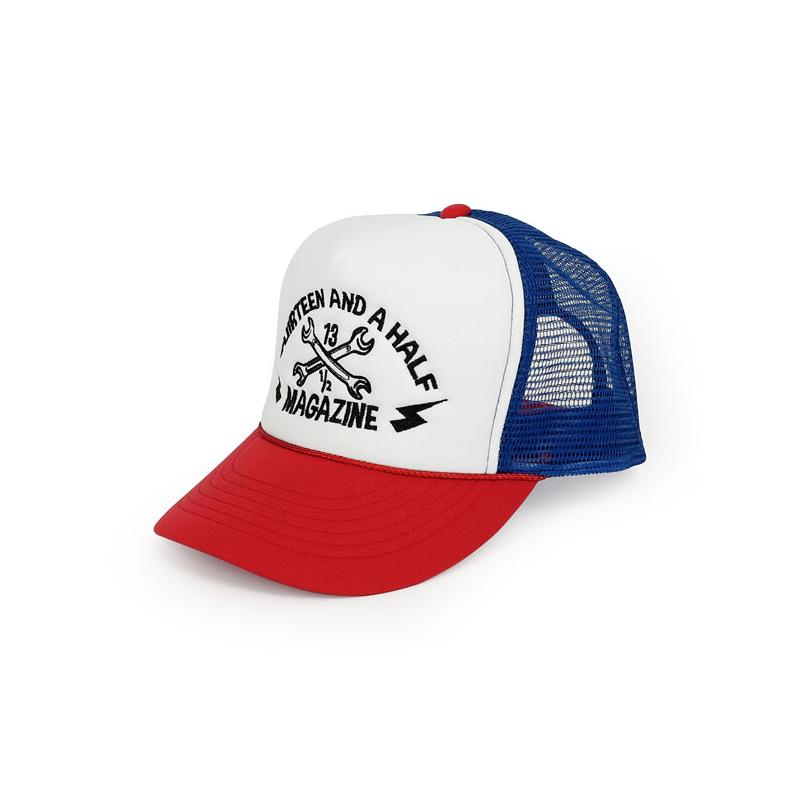 13 1/2 Cap - Trucker Red/Blue