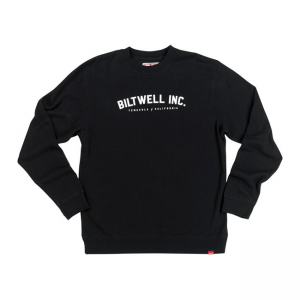 Biltwell Sweater - Basic Crew Neck Schwarz